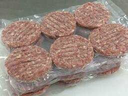 We sell frozen hamburger patties for export.