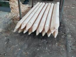 Колья оцилиндрованные, столбы для сада - фото 2