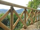 Колья оцилиндрованные, столбы для сада - фото 1
