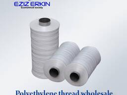 Polyethylene thread for the production of bags in bulk.