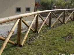 Rounded poles (pins, logs, bars ) made of pine. - photo 4