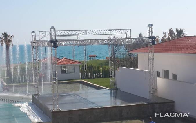 Stage Aluminium Truss Systems / أﻧظﻣﺔ ﺗروس اﻷﻟوﻣﻧﯾوم