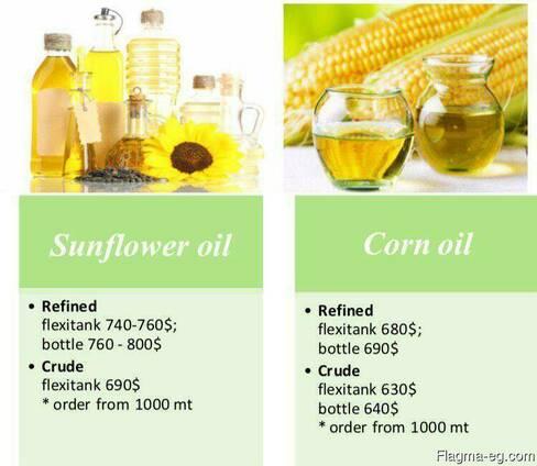 Sunflower oil and Corn oil
