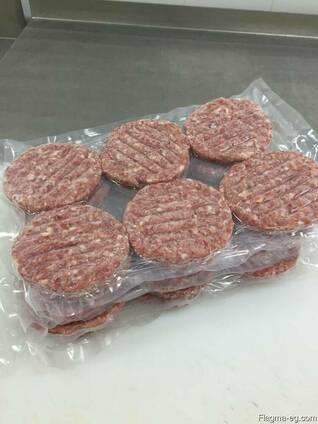 We sell frozen hamburger patties for export.